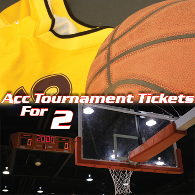 ACC<sup>®</sup> Tournament Tickets - Witness college basketball at its finest!  2 tickets to the ACC Men's Basketball Tournament.  Tickets subject to availability based on date of request. Airfare not included.
