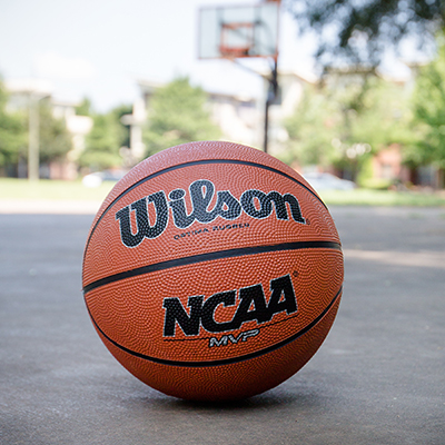 WILSON<sup>®</sup> NCAA<sup>®</sup> Basketball - Boys, 12 years of age or older, regulation size 29.5