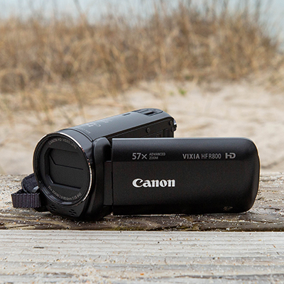 CANON<sup>&reg;</sup> Vixia HF R800 Camcorder - Compact and easy to use, this camera delivers breathtaking full HD video. Features 57x Advanced Zoom and SuperRange Optical Image Stabilization, 3.28 Megapixel Full HD CMOS sensor, DIGIC DV 4 image processor and 3.0-inch Captive Touch Panel LCD screen.