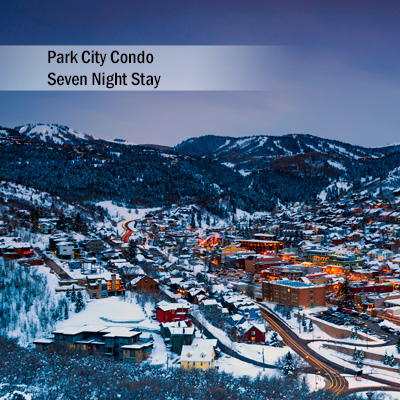 Park City Condo 7 Night Stay - Explore Deer Valley and Park City, Utah during your 7 night stay at this amazing 3 bedroom, 3 bath condo.  Condo features include master bedroom with king bed, guest bedroom with queen bed and second guest bedroom with 2 sets of twin bunk beds.  Also includes a gorgeous stone fireplace, Sony<sup>®</sup>  52